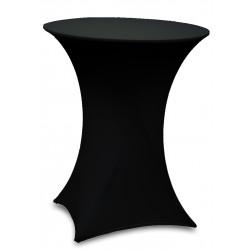 table haute mange-debout 80cm et housse lycra noire