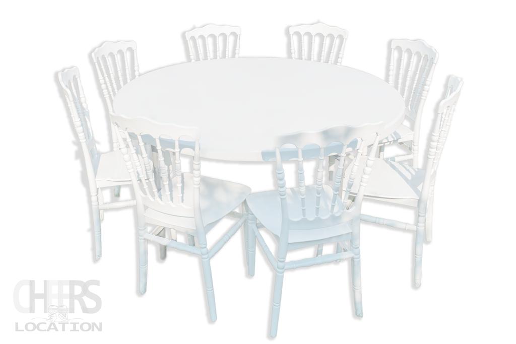 table ronde 150cm avec chaises napoléon