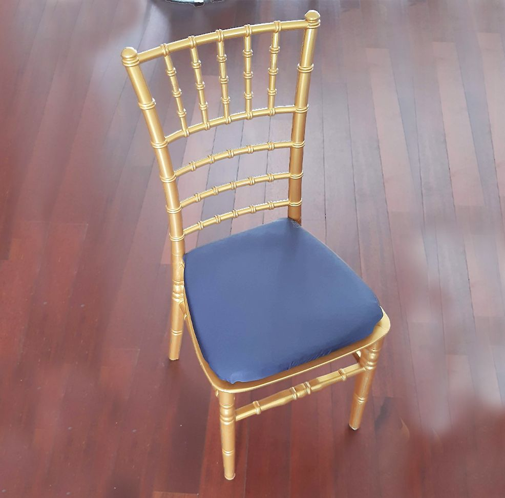 chaise tiffany assise grise